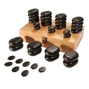 36 Pieces Assorted Sizes Massage stone Set